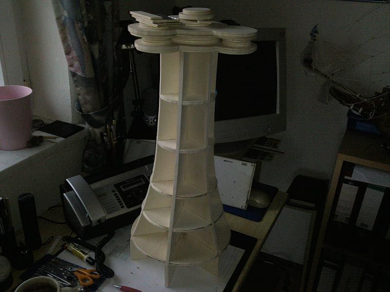 Im bau leuchtturm roter sand ein projekt f r meine frau for Leuchtturm modell selber bauen